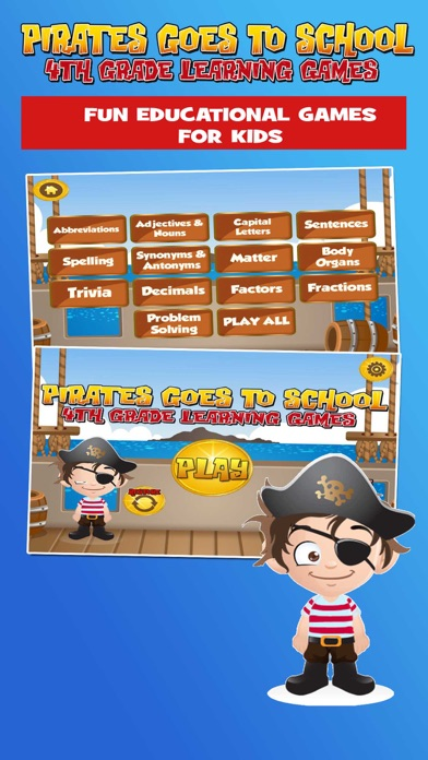 Pirate School: Fourth Grade screenshot one