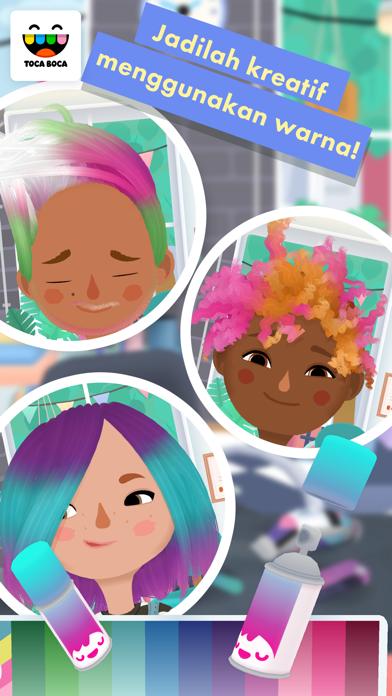 Screenshot for Toca Hair Salon 3 in Indonesia App Store