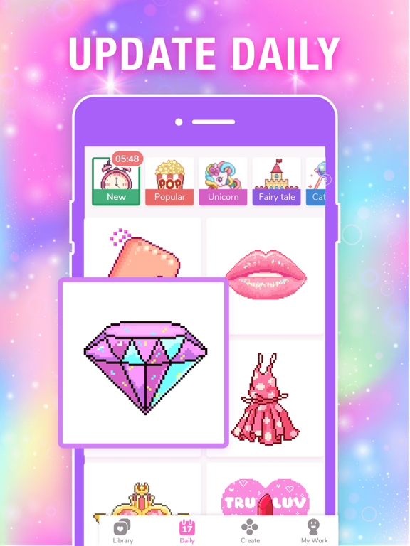 Color by Number Pixel Drawing screenshot 16