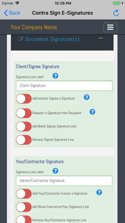Contra Sign E-Signatures