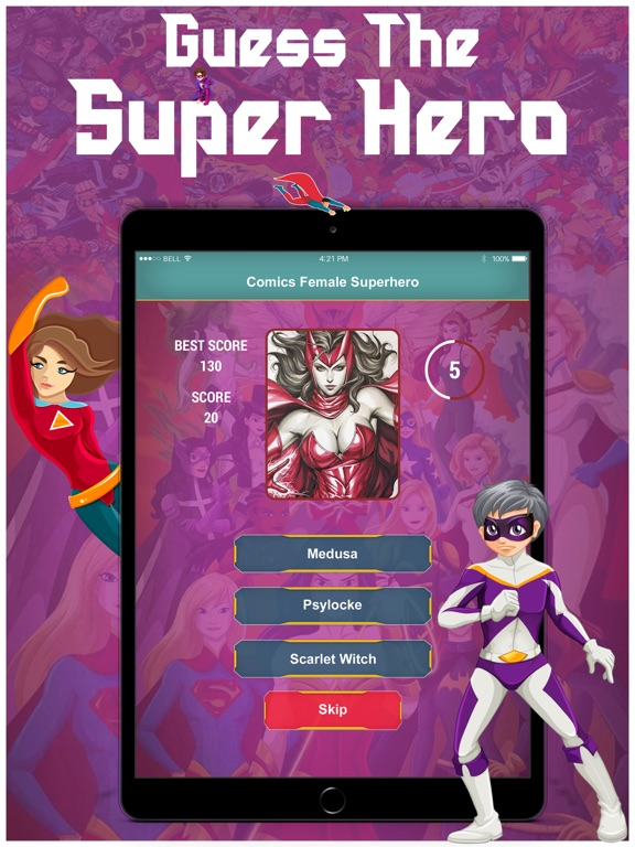 Guess Comics SuperHero Quiz screenshot