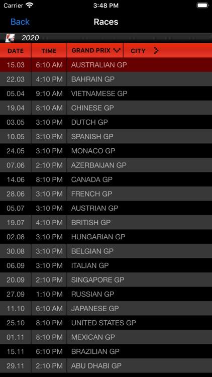 Formula Racing Calendar 2020 screenshot-3