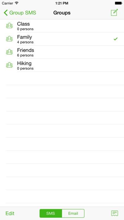 Group SMS screenshot-0