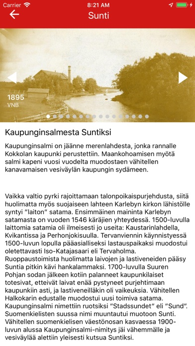 Screenshot for Kokkola Stories in Ukraine App Store