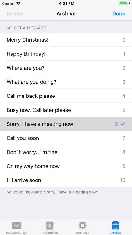 Easy Message LITE - Mass Text screenshot-8
