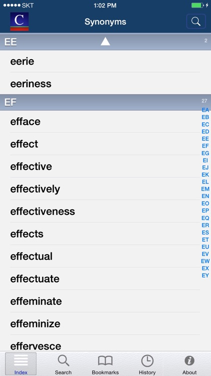 English Synonyms (Moby Thes) screenshot-3