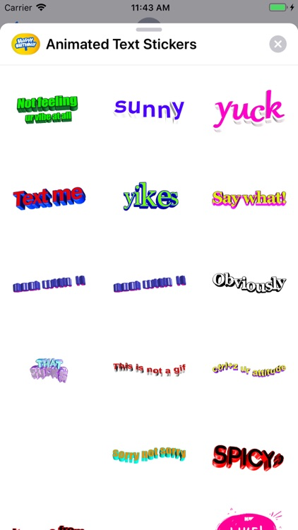 Animated Text Stickers screenshot-5