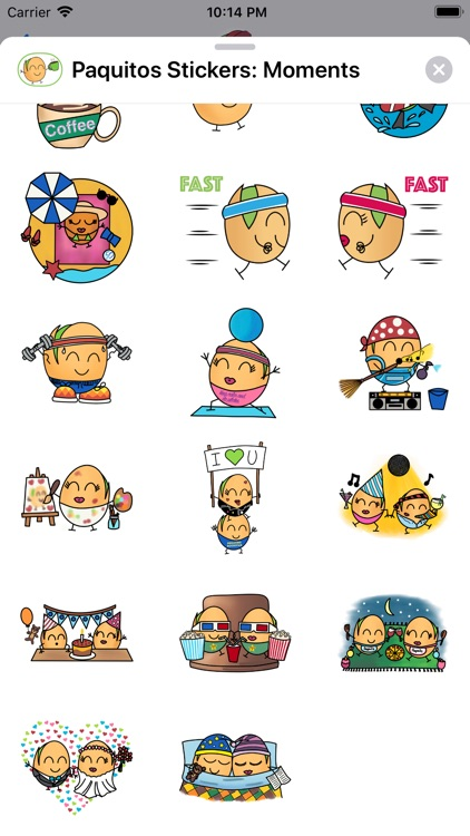 Paquitos Stickers: Moments screenshot-5