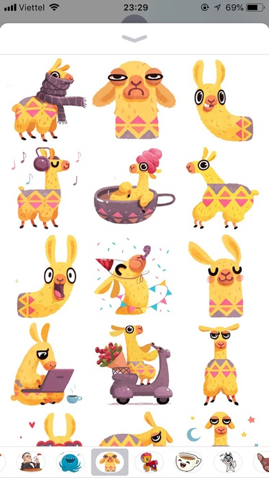 Hipster Lama Funny Stickers screenshot 1