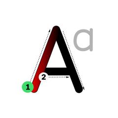 ABC lettres bâtons