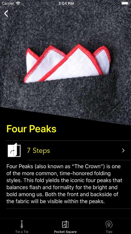How To Tie a Tie • screenshot-6