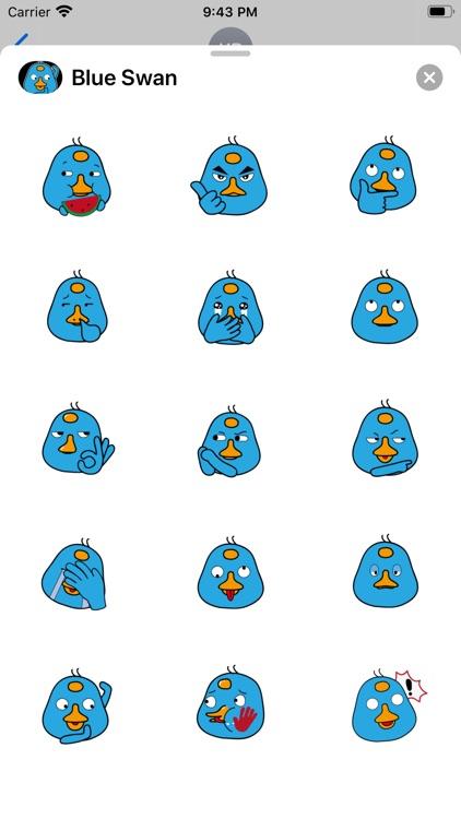 Blue Swan Sticker screenshot-3