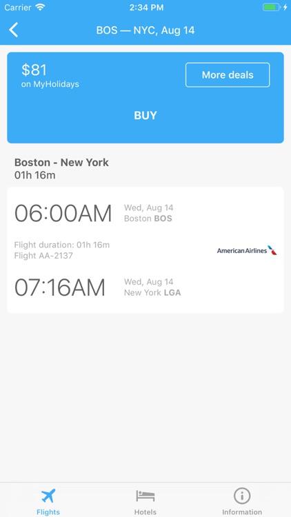 Flight tickets & Search hotel screenshot-3