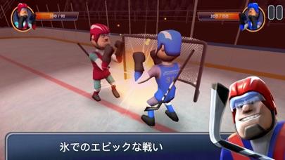 最新スマホゲームのアイスホッケー:氷上の格闘技が配信開始!