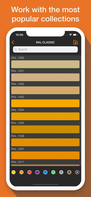 Ral Colour Palette Ncs Chart On The App Store