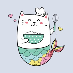 Unicorn Mermaid Cat Stickers