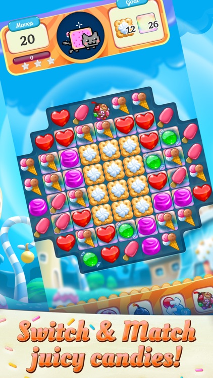 Nyan Cat: Candy Match screenshot-0