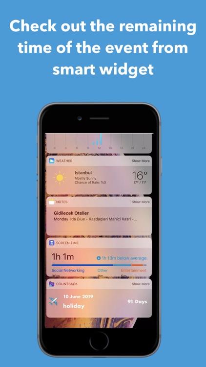 Count+: Event Reminder & Timer screenshot-3