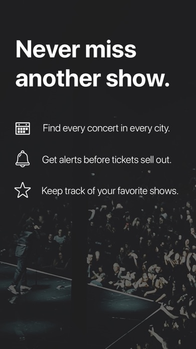 Songkick Concerts Screenshot