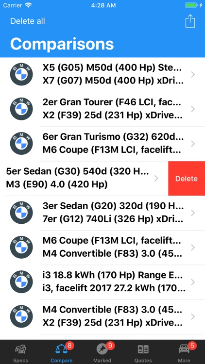 BMW Specs screenshot-8