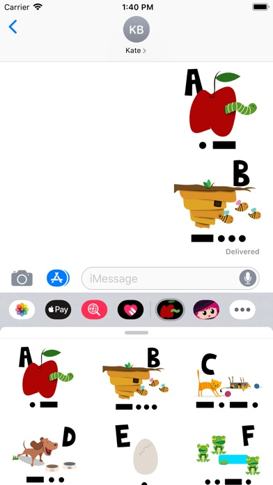 Screenshot for As Easy As Morse Stickers Pack in United States App Store