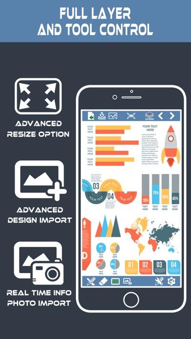 Screenshot #2 pour InfoGraphic et créateur d'affi