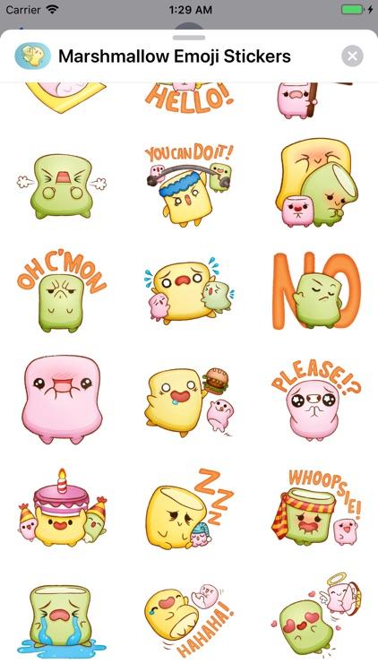 Marshmallow Emoji Stickers