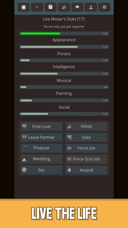 Life Simulator : Real New Text