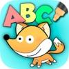 颜色和涂料动物园字母英语学习ABC