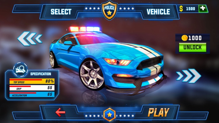 Police Car Chase Robot War