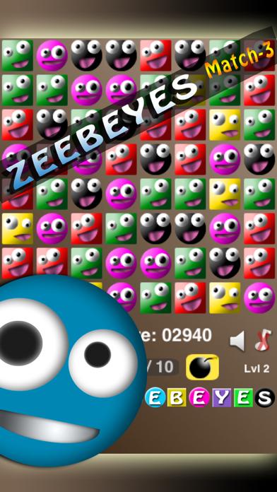 ZeebEyes Match-3 screenshot one