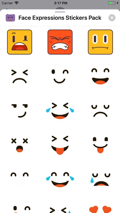 Face Expressions Stickers Pack screenshot-1