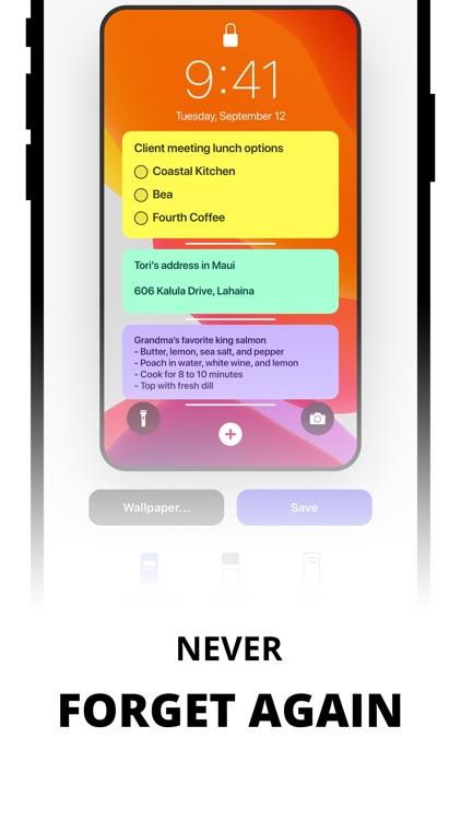 Sticky Notes Widget screenshot-4