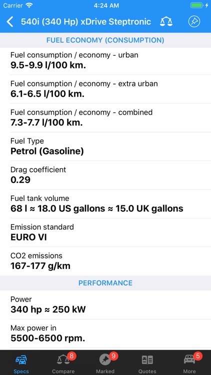 BMW Specs screenshot-3