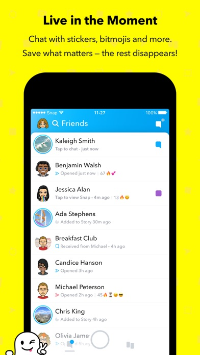 Screenshot for Snapchat in United Kingdom App Store