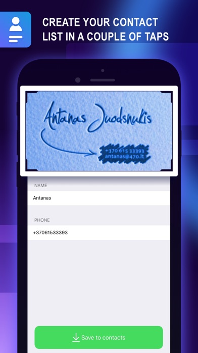 Screenshot for Business Card Holder: Contacts in Jordan App Store