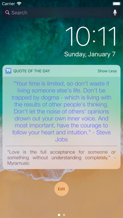 Quote of the Day Widget