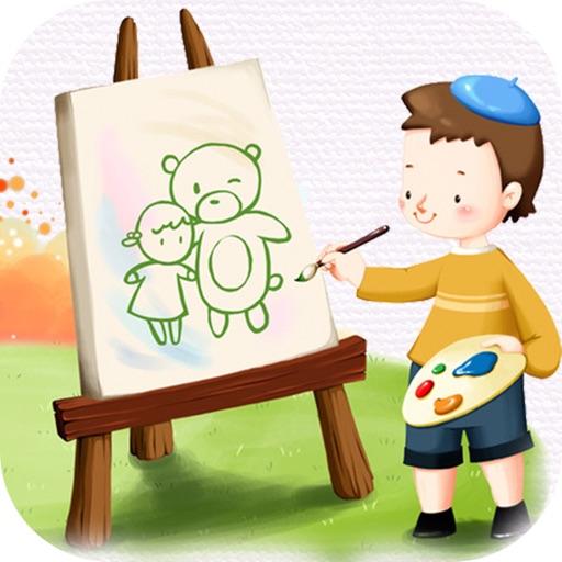 填色绘画游戏-画画益智教育