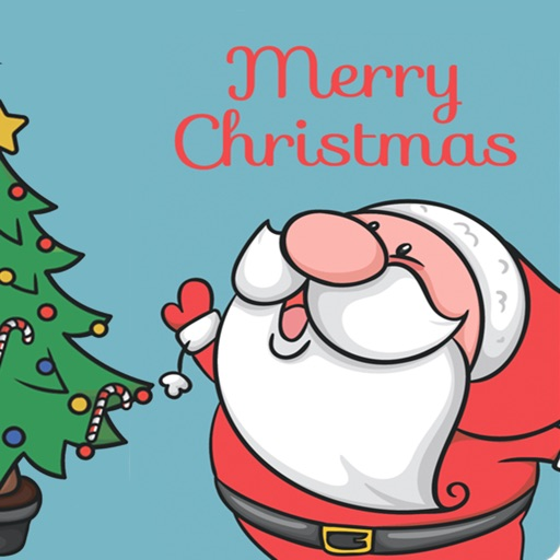Merry Christmas stickers card