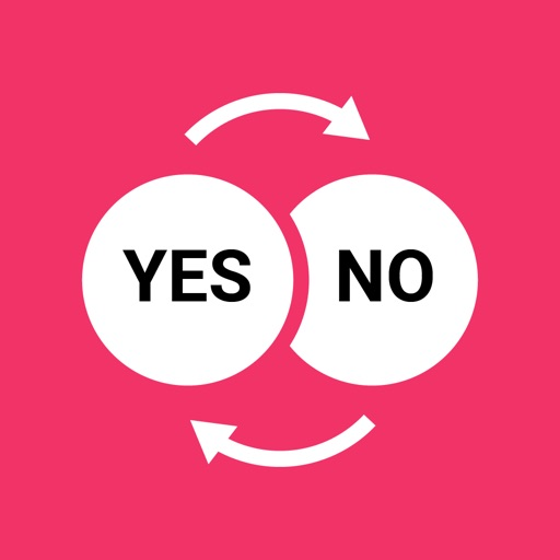 Yes and No Reverse Stickers
