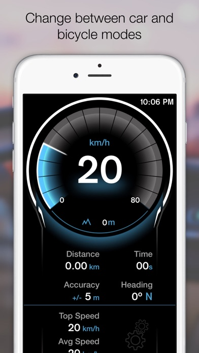 Screenshot for GPS Digital Speed Tracker Pro in Peru App Store