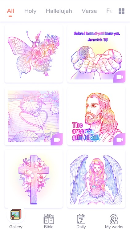 Bible Coloring Paint by Number screenshot-7