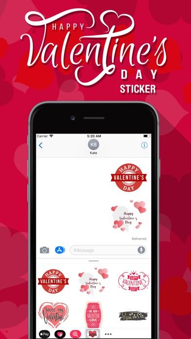 Screenshot of Valentine's Day Love Emojis App