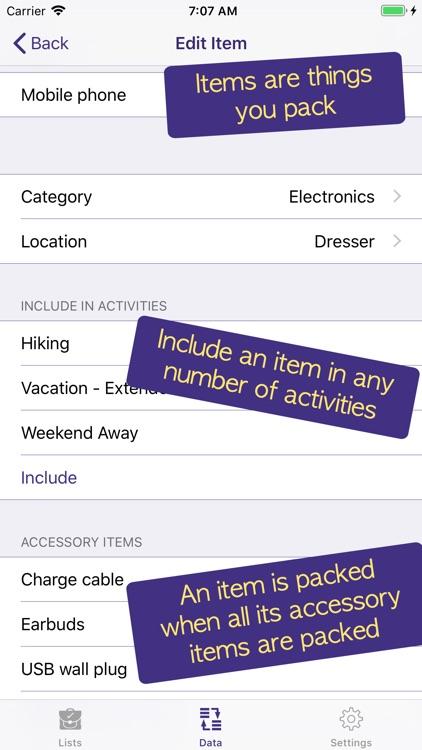 PackCheck Packing List screenshot-8