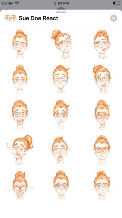 Sue Doe React Stickers app image