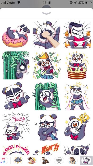 Cute Panda Pun Funny Stickers screenshot 2
