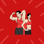Aerobics Stickers