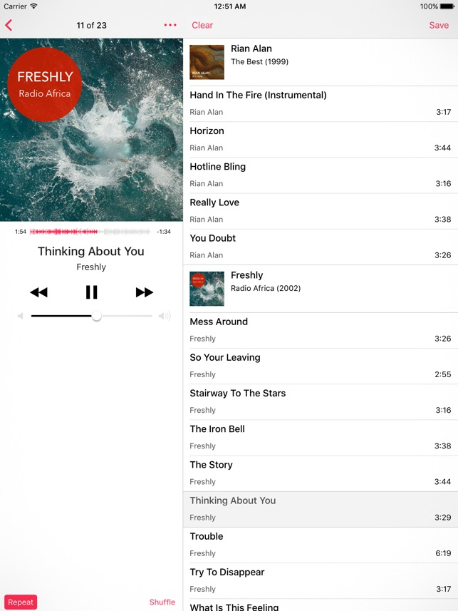 Glazba – Music Player Screenshot
