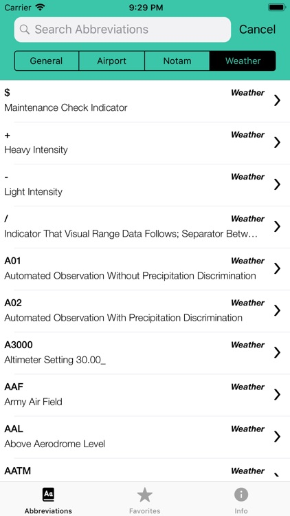Pilot Abbreviations & Acronyms screenshot-7