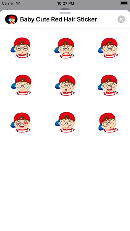 Baby Cute Red Hair Sticker